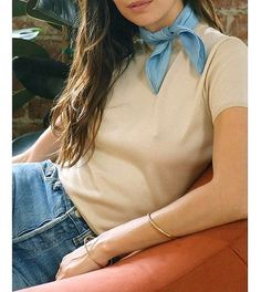 The Timmy scarf in chambray