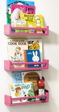 Bookshelf (Ikea Bekvam), something to try. Kids Corner, Baby Bedroom, Girls Bedroom, Baby Kind, Little Girl Rooms, Kidsroom, Kid Spaces, Kids House, Diy For Kids