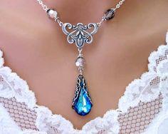 Scarlet - The Victorian Bermuda Blue Necklace - Wedding Jewelry | Bridesmaid Jewelry | Bridal