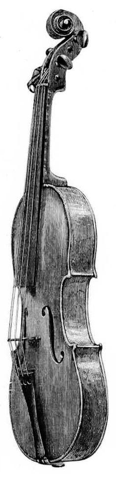 PAGANINI'S GIUSEPPE GUARNERI 1743 (IN THE MUNICIPAL PALACE, GENOA.)