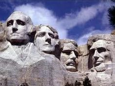 Mount Rushmore  I Wonder how my face would look carved in a mountain