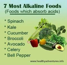 Include green veggies in every meal, for a whole variety of reasons, but especially to put your body into an alkaline state. It's only recently that I realized the importance of the green vegetables, so now I include spinach in my nutritional shake and it doesn't even affect the taste.