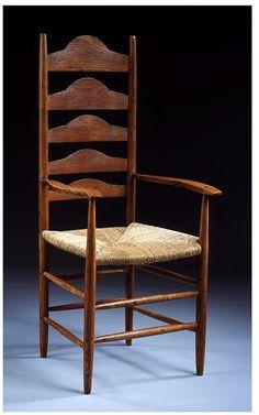 Philip Clisset Ladderback chair by Ernest Gimson.
