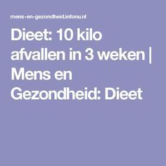 Dieet: 10 kilo afvallen in 3 weken | Mens en Gezondheid: Dieet Go For It, Bikini Workout, Smoothie Bowl, Pcos, Detox, Low Carb, Weight Loss, Healthy Recipes, How To Plan