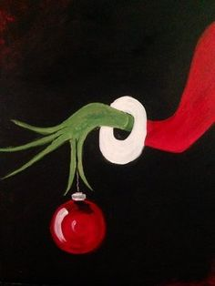 Paint Nite Pittsburgh | Bah Humbug at Roland's Seafood Griile & Iron Landing Paint Nite Pittsburgh 12/08/2014