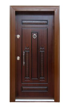 Here is modern entry door a touch of old world design mystique.