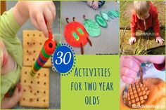 Two Year Olds: 30 Activities for Having Fun by Kids Activities Blog This is a wonderful list with photos.   Thanks @Quirkymommasite
