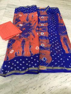 Kota Silk Bandhini And Shibori Mix Sarees | Buy ONline Sarees | Elegant Fashion…