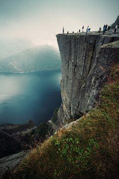 Preikestolen |Jonas Lang  #nature #scenic #landscape #high # blue