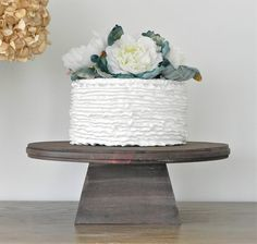 14 Inch Cake Stand Rustic Wedding By EIsabellaDesigns