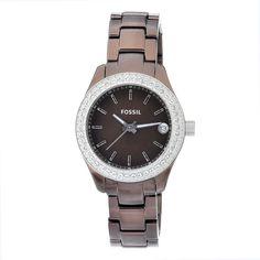 Fossil Women's ES2963 Quartz Brown Dial Aluminum Watch  Price: $63.82