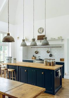 Shaker Kitchen Brochure Devol Kitchens 32 Bond Street Home Devol Kitchens, Shaker Style Kitchens, Shaker Kitchen, Black Kitchens, Home Kitchens, Home Decor Kitchen, New Kitchen, Kitchen Interior, Vintage Kitchen