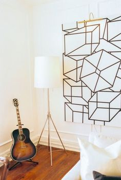 Geometric art: http://www.stylemepretty.com/living/2015/07/27/eclectic-charleston-interior/ | Photography: Perry Viale - http://www.perryvaile.com/:
