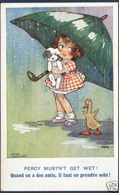 Percy Mustn't Get Wet! Agnes Richardson card