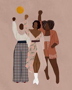 Black Girl Art, Black Women Art, Black Girl Magic, Art Girl, Et Wallpaper, Black Girl Aesthetic, Illustration Art, Illustrations, Black Artwork
