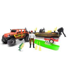 Jeep with Bass Boat Set Motocross Videos, Coral Curtains, Christmas Train Set, Ukulele Design, Ford Bronco For Sale, Rodeo Birthday, Tiny Trailers, Bass Boat, Snow Plow