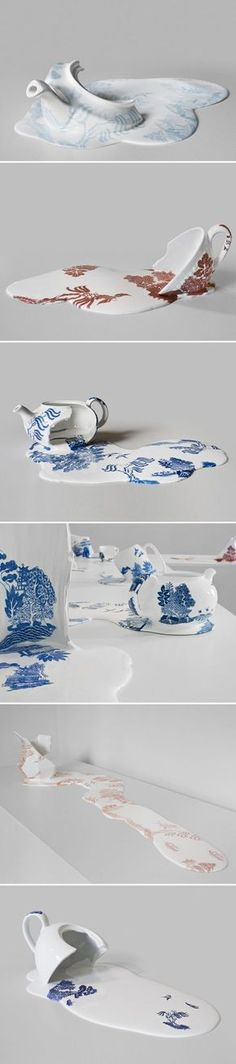 Melted teapots