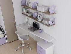 Scrivania sr10 spessore 40mm in frassino bianco #wallbox sospeso con