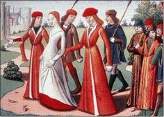 miniatures, fashion place, medieval clothing, mediev women, fashion history