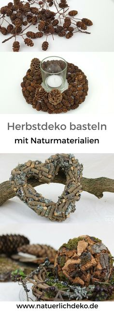 Make autumn decoration with natural materials yourself. Great deco ideas for the autumn to make. decoration, deco fall, fall decoration entrance area … - New Deko Sites Rustic Christmas, Christmas Home, Christmas Wreaths, Christmas Decorations, Holiday Decor, Nature Decor, Nature Crafts, 21st Decorations, Best Decor