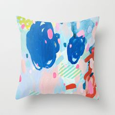 One Scoop or Two Throw Pillow by Emily Rickard - $20.00