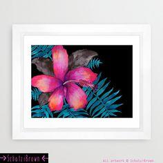 PINK HIBISCUS  Art Print  by SchatziBrown