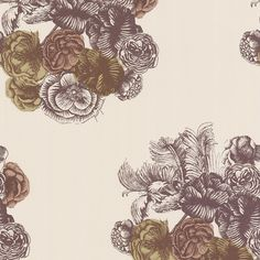 Fornasetti Peonie Wallpaper - 77/3009 ($100) ❤ liked on Polyvore featuring home, home decor, wallpaper, neutral, peony wallpaper, silk wallpaper, fornasetti, neutral wallpaper and pattern wallpaper