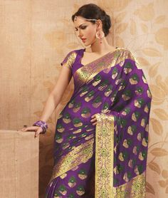 Emphasize on your feminine quotient as fashionandyou.com brings to you an enticing ethnic wear collection. The collection defines itself with marvellous colours, stunning designs and a touch of contemporary styling. Let your ethnic wear sense something fresh and completely admirable.BRAND: BrijrajCATEGORY: Saree with Unstitched BlouseARTICLECOLOURMATERIALLENGTHSareePurple and MultiViscose5.40 metersBlousePurpleFaux Chiffon0.80 meterWe would always want to send you what we showcase but there…