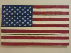Handpainted American Flag Pallet Wall Hanging by ImGoodWithWood, $75.00