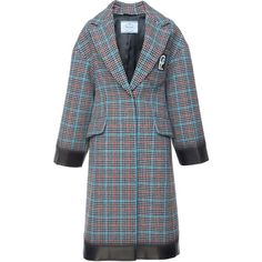 Check Coat | Moda Operandi (€3.480) ❤ liked on Polyvore featuring outerwear, coats, checkered coat and checked coat