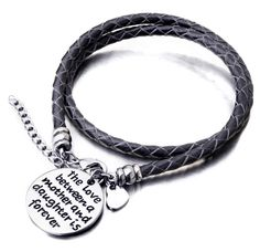 The Love Between a Mother and Daughter is Forever - Hand Stamped Brace~I want one each for my daughter and I!