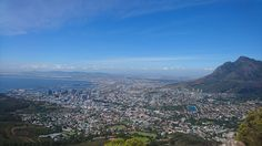 A view of Cape Town from the top of the mountain Lions Head. A great effort to hike up but once you reach the summit, the view is breathtaking and rewarding