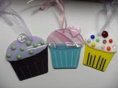 Fused glass cupcake night light by sherrylee16 on Etsy, $22.00