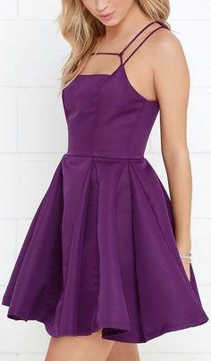 Gift of Rhyme Purple Skater Dress