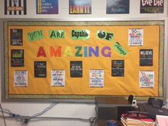 You are capable of Amazing Things Counseling Bulletin Boards, Red Ribbon, Paper Shopping Bag, Back To School, Amazing Things, Red Band, Beginning Of School, Back To College