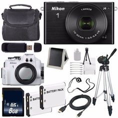 Nikon 1 J4 Mirrorless Digital Camera with 10-30mm Lens (Black) (International Model No Warranty) + Nikon WP-N3 Waterproof Housing + EN-EL22 Battery + 8GB SDHC Memory Card + 6AVE Bundle. This version is originally intended for sale outside the USA. User Manual Not Be Included. Nikon 1 J4 Mirrorless Digital Camera with 10-30mm Lens (Black) Brand New w/ All Manufacturers Accessories. Nikon WP-N3 Waterproof Housing Lens Brand New w/ All Manufacturers Accessories. EN-EL22 Rechargeable Lithium…