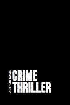 Crime thriller template #2