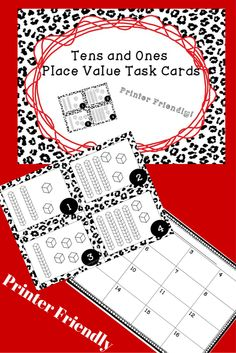 $  Printer friendly!  No color ink!  Fun place value game designed to engage children practice counting tens and ones.