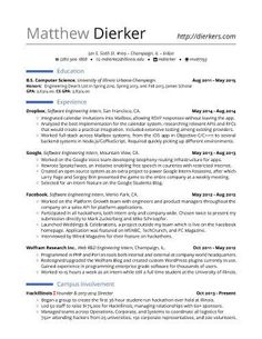 Software Engineer Resume Examples Sample Software Engineer Resume  This Resume Was Nominated For A