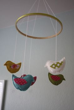 To make for new baby or cat.  http://www.craftinessisnotoptional.com/2010/03/birdie-mobile-tutorial.html