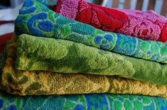 Old School Towels..I remember my Aunt Helen used to make jackets out of towels like these! I wish I still had one!