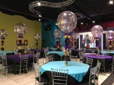 Descendants 2 Table Centerpieces Made By Jeannette Bigparty Balloons