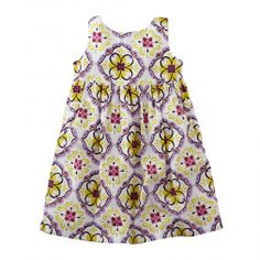 Printed Tie Back Little Girls Dress | Tea Collection