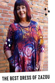 Prachtige jurken en tunieken binnen bij ZAZOU Schitterende patronen en modellen, ook voor grote maten