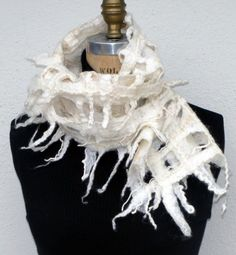 felted scarflette by nancy wilder on etsy