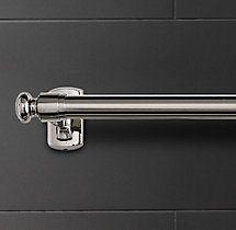Bistro Towel Bar in polished chrome, restoration hardware