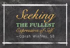 Oprah's six-word memoir.