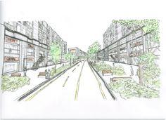 Sketch : Apartment / Community Street / Site Plan