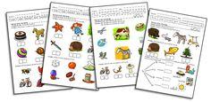 Fiches d'exercices pour l'étude des sons Teachers Corner, Thing 1, Alphabet, Sons, Homeschool, Language, Classroom, Teaching, Activities