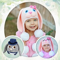 Sweet Bunny Hat - Not a free pattern but these are SO CUTE!!!!